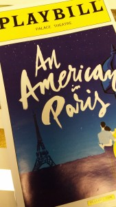 An American in Paris is playing at the Palace Theatre on Broadway.