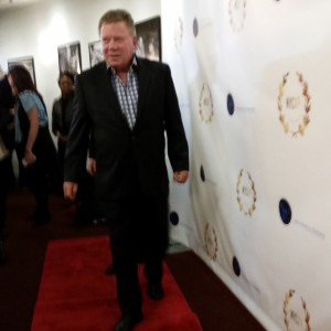 William Shatner arrives on the red carpet.