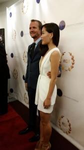 Sebastian Roche with his wife Alicia Hannah.