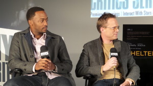 Anthony Mackie and Paul Bettany. November 9, 2015.